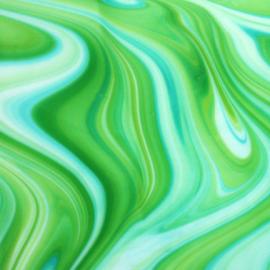 Vidrio System 96 color Verde Pearl Opal SP OA/623-52F para Vitrofusión, Vitrales y Vitromosaico