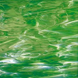 Vidrio Spectrum Glass color Verde SP 329-2 para Vitrales y Vitromosaico