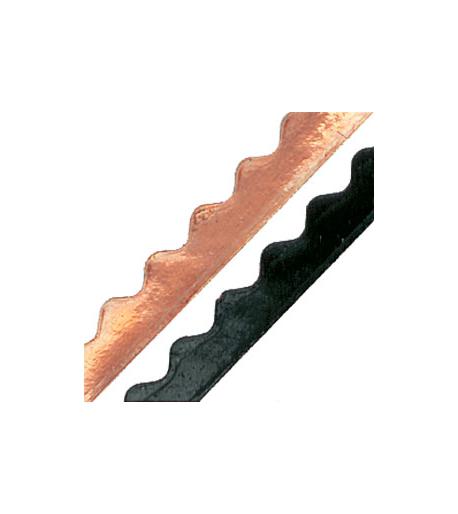 """Cinta de cobre Ondulada color Negro 5/16"""" - 1.25mil (New Wave) para Vitrales"""