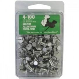 Push Pins (tachuelas) de Aluminio para Vitrales - 100pz