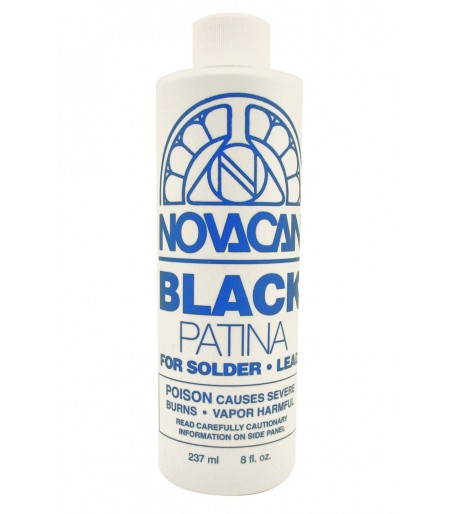 Patina Novacan color Negro para Soldadura/Plomo - 8 oz