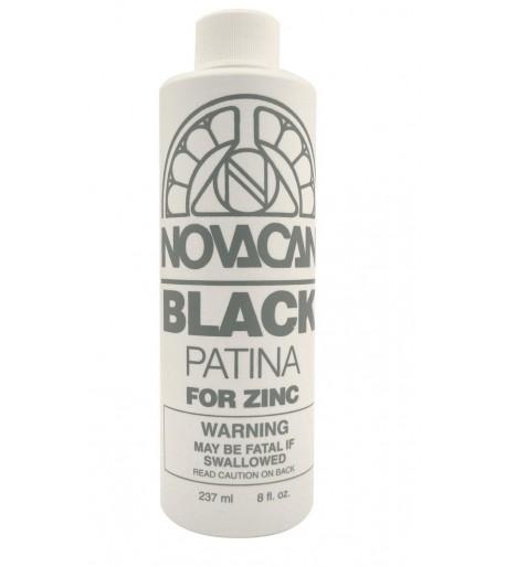 Patina Novacan color Negro para Zinc de 8oz para Vitrales