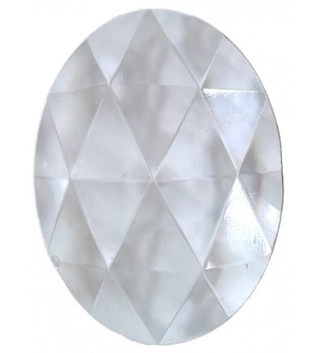 Joya Ovalada Facetada de Vidrio de 40x30mm