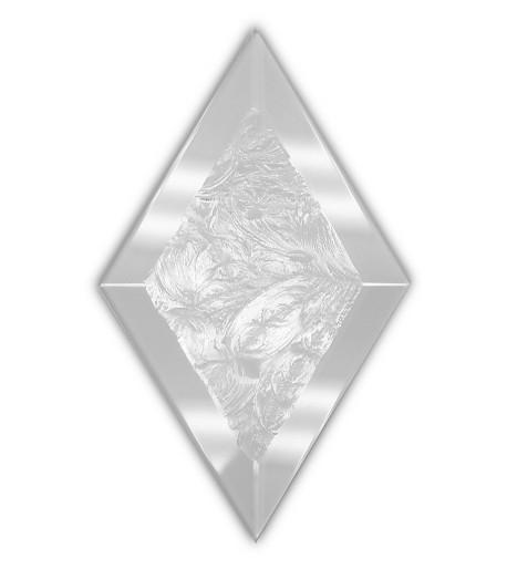 """Rombo Biselado de Vidrio Glue Chip de 3"""" x 5"""" con Bisel de 1/2"""" para Vitrales"""