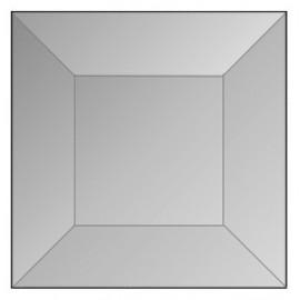 """Cuadro Biselado de Vidrio de 1.5"""" x 1.5"""" con Bisel de 1/2"""" para Vitrales"""