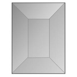 """Rectángulo Biselado de Vidrio Claro de 1.5"""" x 2"""" con Bisel de 1/2"""" para Vitrales"""