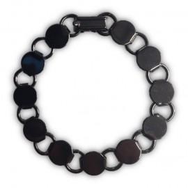 Brazalete Redondo Color Negro Gunmetal - 2pzs