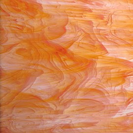 Vidrio Spectrum Glass color Naranja SP 375-1 para Vitrales y Vitromosaico