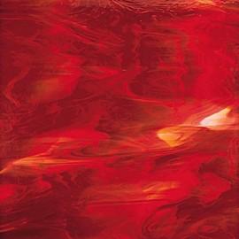 Vidrio Spectrum Glass color Rojo SP 357-1 para Vitrales y Vitromosaico