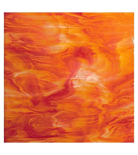 Vidrio Spectrum Glass color Rojo / Naranja SP 675-5 para Vitrales y Vitromosaico