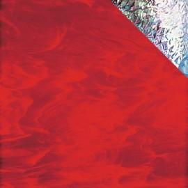 Vidrio Spectrum Glass color Rojo Iridiscente SP I/359-1 para Vitrales y Vitromosaico