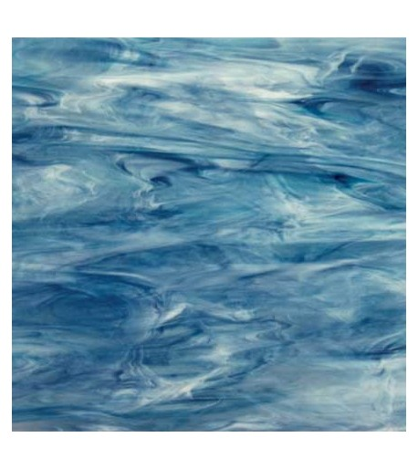Vidrio Spectrum Glass color Azul SP 6033-83CC Pearl Opal para Vitrales