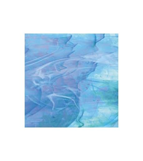 Vidrio Spectrum Glass color Azul Iridiscente SP I/833-91 para Vitrales y Vitromosaico