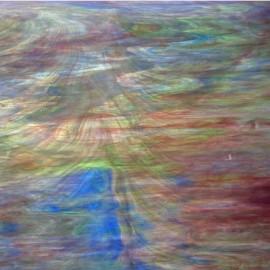 Vidrio Wissmach Glass color Morado / Azul / Verde Wispy WO-441 para Vitrales y Vitromosaico