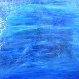 Vidrio Mystic Wissmach Glass color Azul WI WO-707MY para Vitrales y Vitromosaico