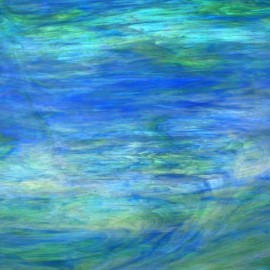 Vidrio Iridiscente Wissmach Glass color Azul / Verde WO-197IR para Vitrales y Vitromosaico