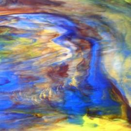 Vidrio Opalescente Kokomo Glass color Ámbar / Verde / Azul / Morado KO 266 para Vitrales y Vitromosaico