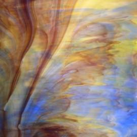 Vidrio Opalescente Kokomo Glass color Ámbar / Azul / Morado / Verde KO 246MBMD para Vitrales y Vitromosaico
