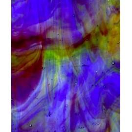 Vidrio Streaky Kokomo Glass color Ambar / Verde / Azul / Morado KO 266LL para Vitrales y Vitromosaico