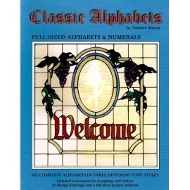 Catálogo / Revista / Libro Classic Alphabets para Vitrales