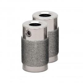 """Piedras / Diamantes / Muelas Diamantadas Twofers de 3/4"""" Grano Medio para Pulir Vidrio"""