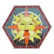 "Molde Hexagonal Pisadas de Piedra de 12"" para Vitromosaico"