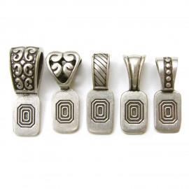 Variedad de Colgantes Plata Antigua para Joyería en Vidrio