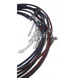 """Collares de Cuero 18"""" con Extensor - 10pzs"""