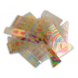 Pedacería Vidrio Dicroico en Claro DichroMagic Tie Dye con Diseños - 1/4lb