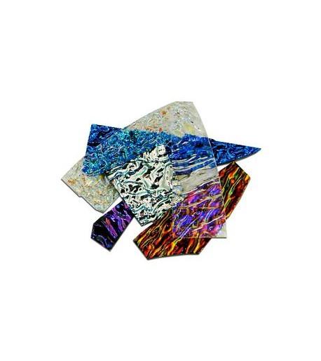 Pedacería de Vidrio Dicroico CBS con Textura - 1/4 Lb