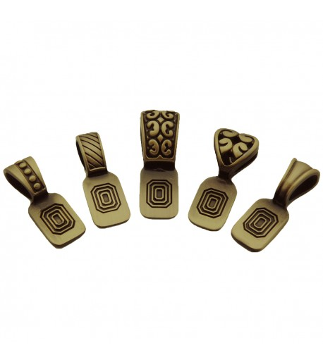 Variedad de Colgantes Platinados en Latón Antiguo para Joyería