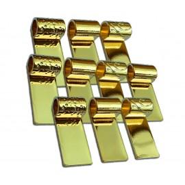 Variedad de Colgantes en Tubo Chapados en Oro para Joyería