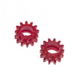 Poleas Dentadas Plástico Rojo Taurus - 2pzs