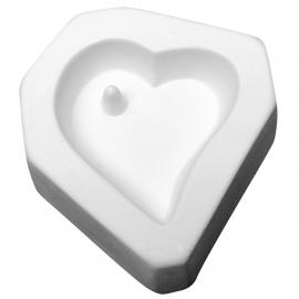 Molde de Corazón para Joyería