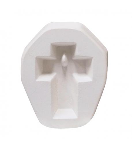 Molde de Cruz Pequeño para Joyería en Vitrofusión (Termoformado)