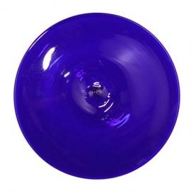 "Rondel / Medallón de Vidrio Azul - 3 - 1/4"""