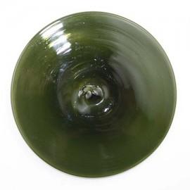 "Rondel / Medallón Vidrio Verde Olivo - 3 - 1/4"""
