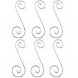 """Colgantes para Vitrales Curly Q 4 - 1-15/16"""" x 9/16"""" (6pzs)"""