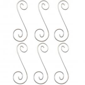 """Colgantes Curly Q 4 - 1-15/16"""" x 9/16"""" (6pzs)"""